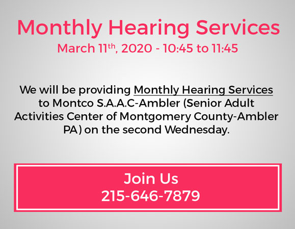 Monthly Hearing Services and Hearing Presentation